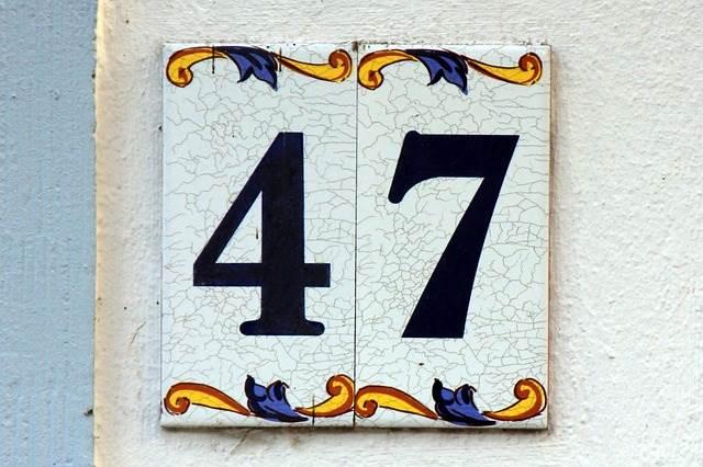 plaque de numéro de rue en faïence (47)