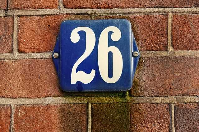 plaque de numéro de rue (26)